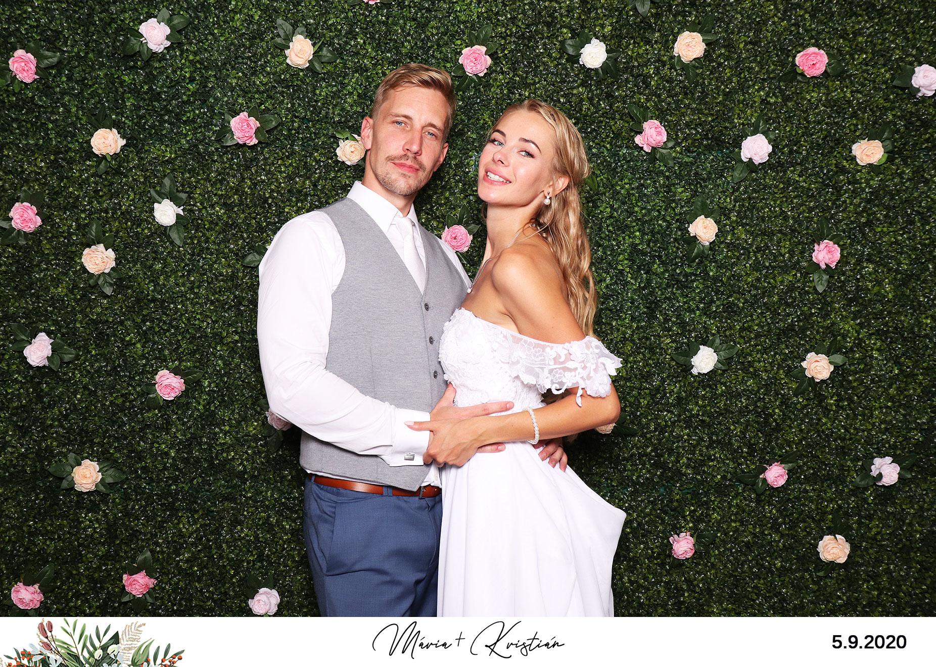 svadba fotokutik floral fotostena