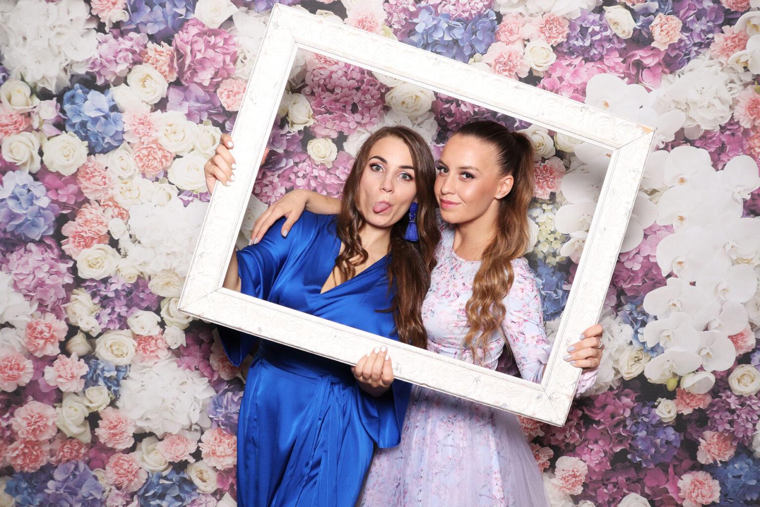Fotokútik svadba - Fotostena na svadbu - kvetinová