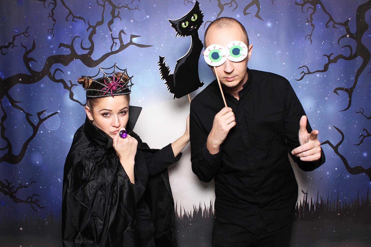 Fotobox Halloween - rekvizity na fotokútik - Žilina - fotostena.