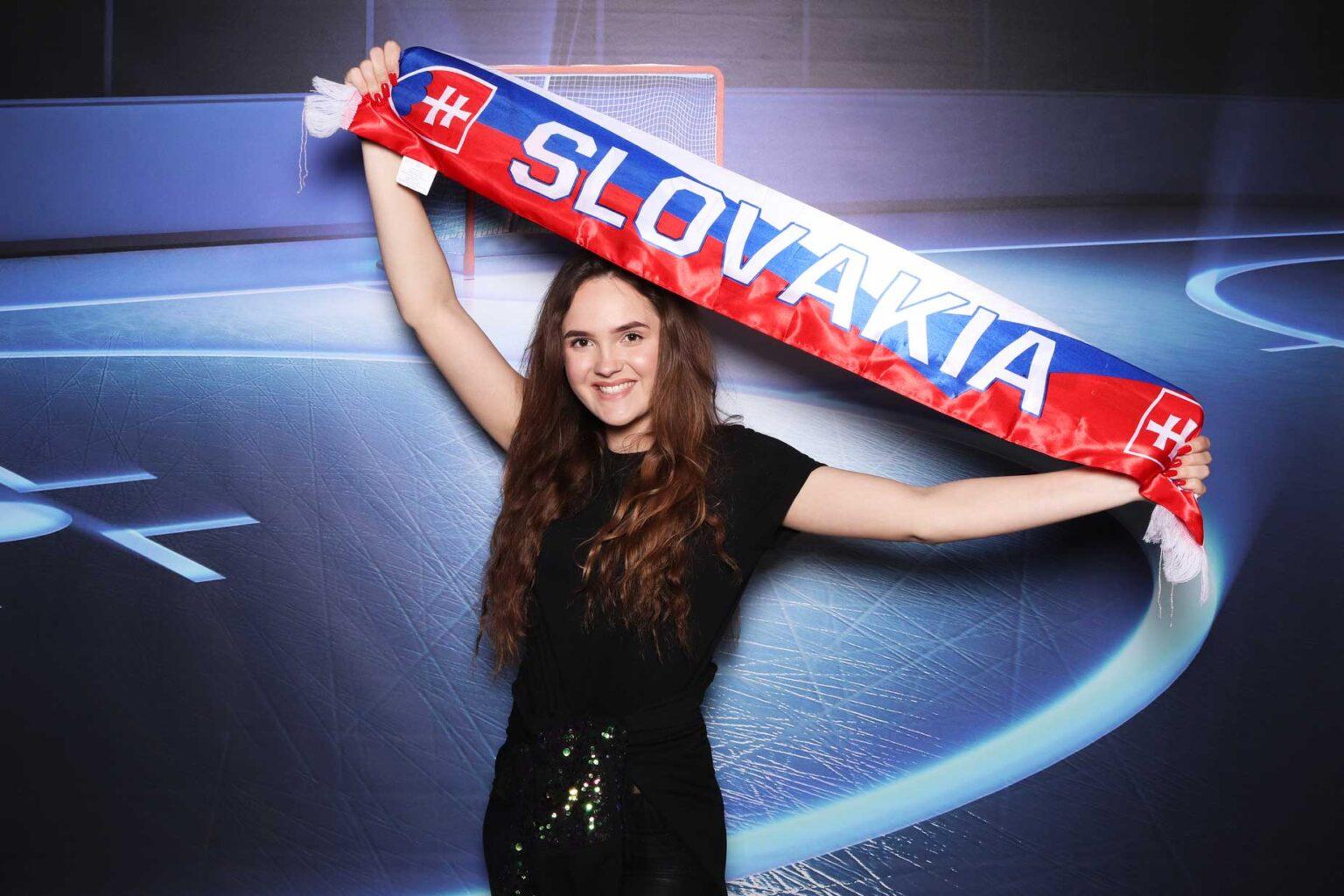 Fotokútik šál Slovensko - fotostena - športový fotobox Žilina.