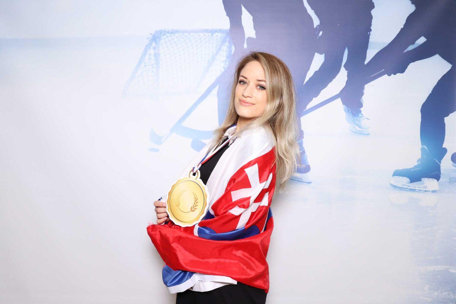 Fotostena - majstrovstvá v hokeji - fotokútik Bratislava.