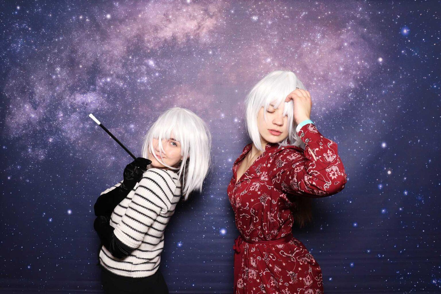 Fotostena vesmírna - prenájom fotokútika na párty, večierok.