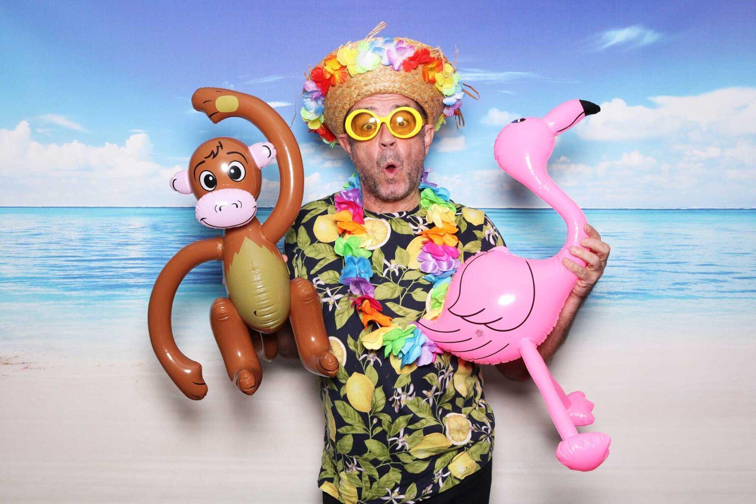 Havaj párty - fotokútik - pozadie pláž - fotobox Žilina.