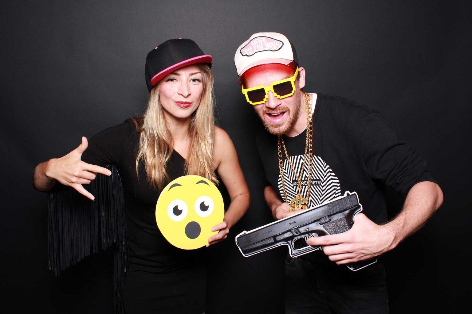 Hip-hopový fotokútik - firemná párty - fotobox Bratislava.