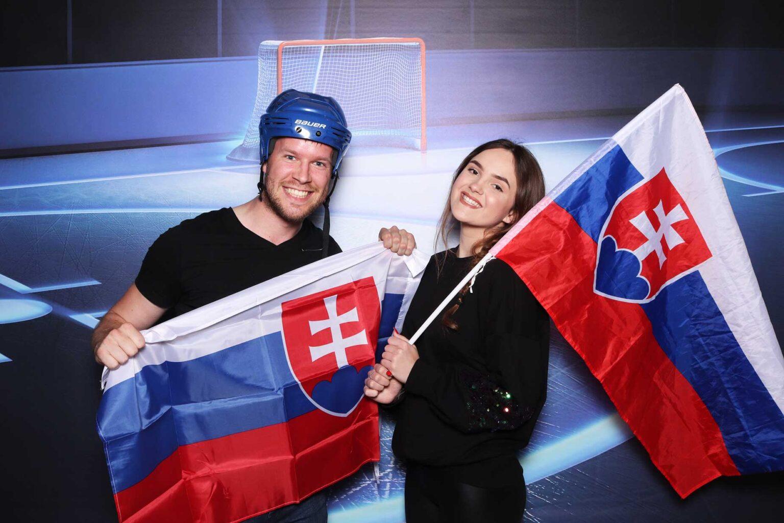 Hokejový fotokútik - pozadie Ice hockey - fotobox Bratislava