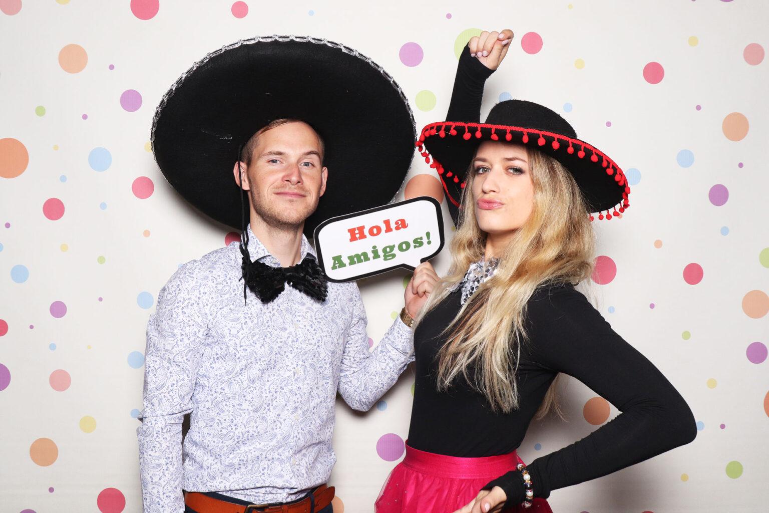 Mexický fotokútik - pozadie fun dots - bodkované, mexiko party.