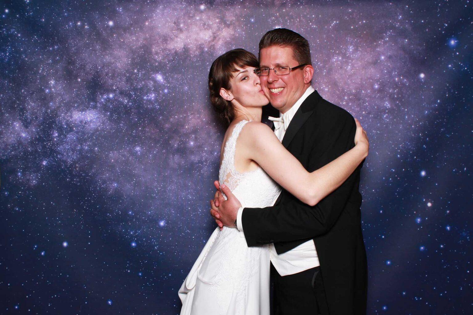 Pozadie Galaxy - vesmírna fotostesna - svadba.