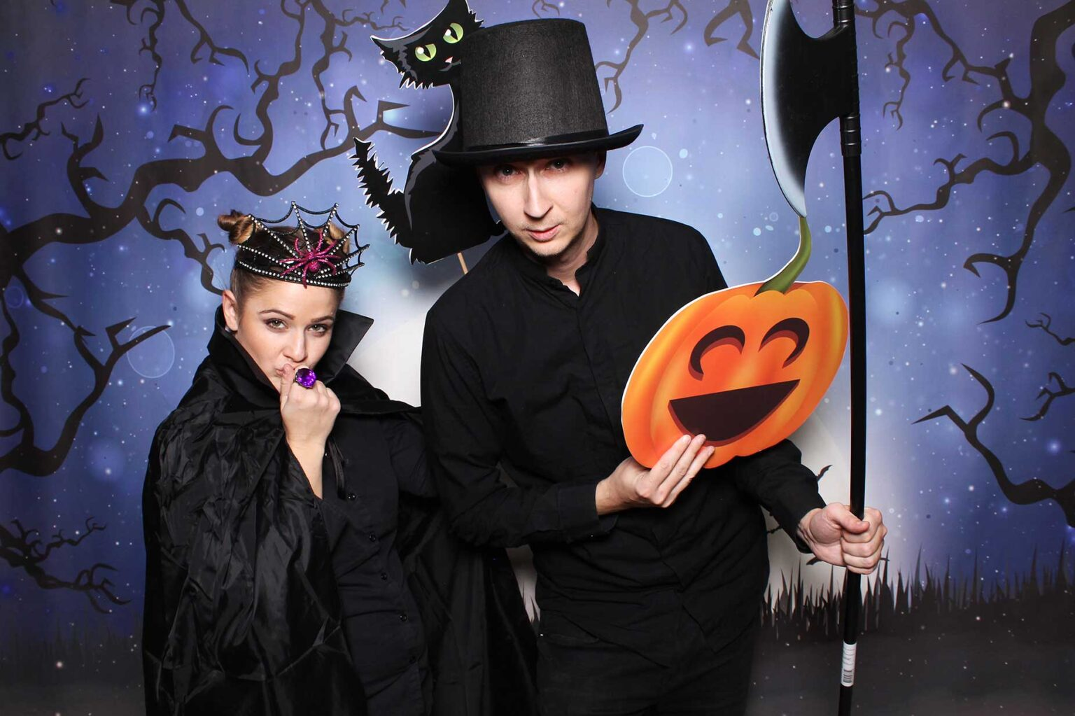 Pozadie Halloween - tekvica - rekvizity fotobox Bratislava - fotokútik.