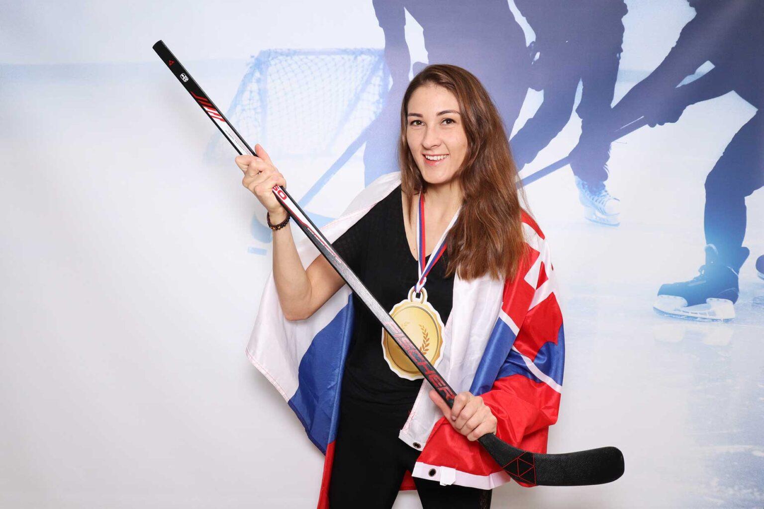 Pozadie Ice hockey - fotokútik na hokejový event.