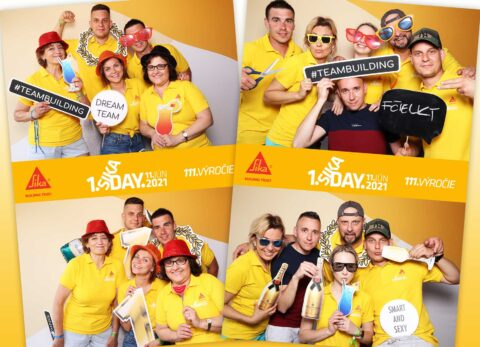 Fotokútik Teambuilding - pozadie Sunny desert - žlté.