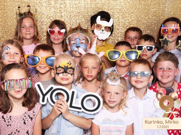 Narodeniny - detská oslava - fotokútik párty.